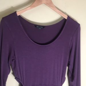 AE Soft & Sexy 3/4 sleeve T-shirt purple dress